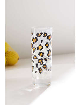 Leopard Juice Glass by Urban Outfitters