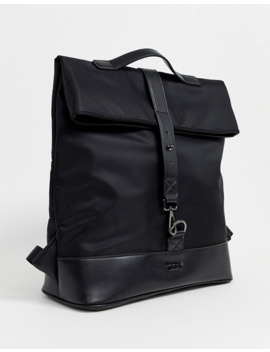 Dune Lewis Backpack In Black Nylon by Dune