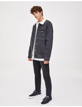 Veste En Jean Basique Mouton Synthétique by Pull & Bear