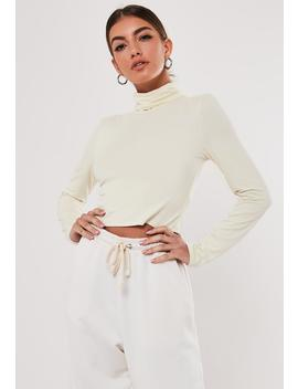 Sand Funnel Neck Cropped Top by Missguided