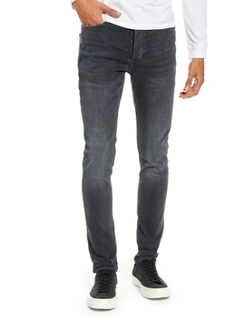 Dark Blue Skinny Fit Jeans by Topman