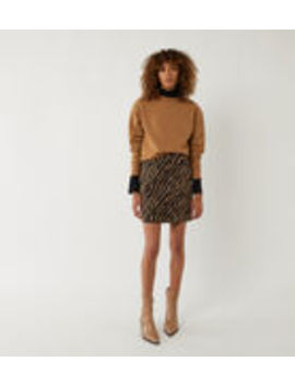 Tiger Pelmet Mini Skirt by Warehouse