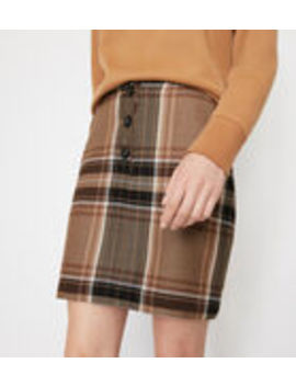 Bold Check Pelmet Mini Skirt by Warehouse
