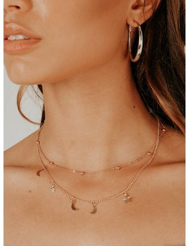 Dainty Double Chain Star Gazer Necklace by Princess Polly