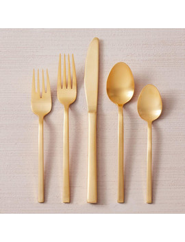 Gold Flatware Set by West Elm