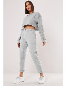 Gray D Ring Buckle Pocket Front Joggers by Missguided