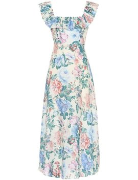 Floral Verity Linen  Casual Maxi Dress by Zimmermann