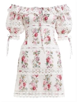 Floral Honour Pintuck Mini  Casual Dress by Zimmermann