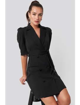Belted Blazer Dress Black by Trendyol
