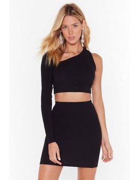 Let Me Be The One Shoulder Crop Top And Skirt Set by Nasty Gal