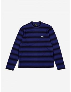 Ombre Longsleeve Crewneck Sweatshirt   Navy by Stussy