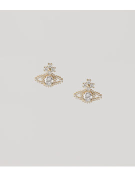Valentina Stud Earrings Golden Tone  by Vivienne Westwood