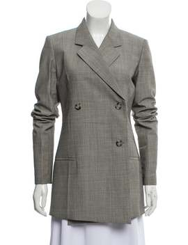 Virgin Wool Blend Blazer Dress by Helmut Lang