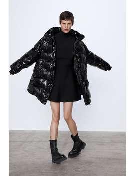 ProŠÍvanÝ KabÁt Oversize by Zara