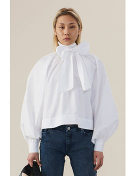 Cotton Poplin Blouse by Orchard Mile