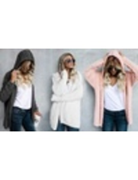 One Or Two Women's Fluffy Hooded Cardigans by Groupon