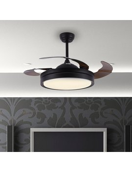 """42"""" Maryann 4 Blade Led Ceiling Fan With Remote, Light Kit Included by Ivy Bronx"""