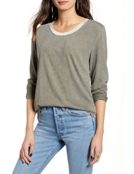 Long Sleeve Ringer Tee by Treasure & Bond