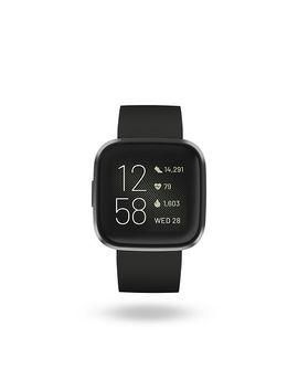 Fitbit Versa 2 Black Silicone Strap Smart Watch by H.Samuel