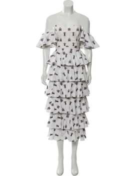 Tiered Embroidered Dress by Caroline Constas