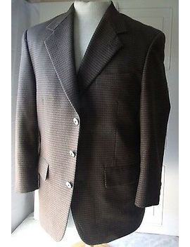 Mens Blazer Sport Coat Suit Jacket Brown Tweed Bert Pultizer Blazer 40 S by Bert Pulitzer