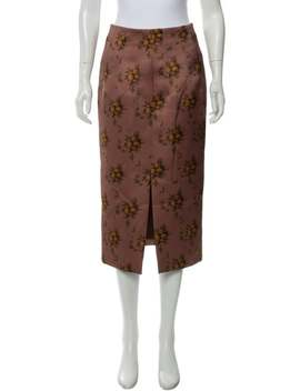 Printed Midi Skirt W/ Tags by Brock Collection