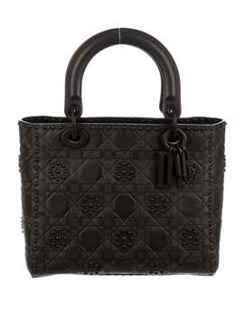 2018 Medium Lady Dior Bag W/ Strap by Christian Dior