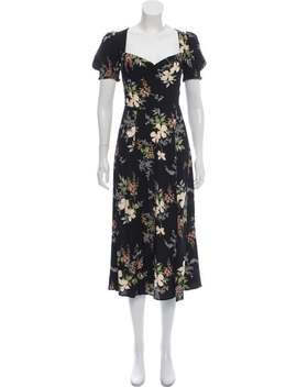 Floral Print Midi Length Dress by Reformation