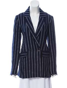 Striped Linen Blazer by Reformation