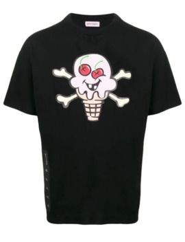 X Ice Cream Skull Print T Shirt by Palm Angels
