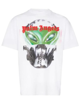 Alien Print T Shirt by Palm Angels