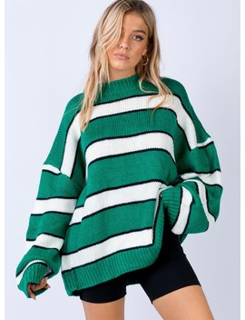 Rosha Jumper Green by Princess Polly