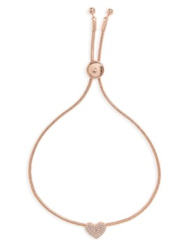 Yours Truly Pavé Heart Slider Bracelet by Kate Spade New York