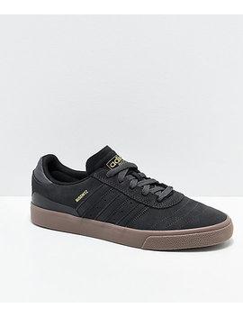 Adidas Busenitz Vulc Grey, Black & Gum Shoes by Adidas