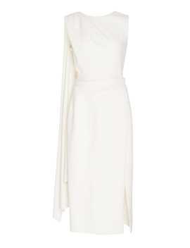 Wool Blend Midi Dress by Oscar De La Renta