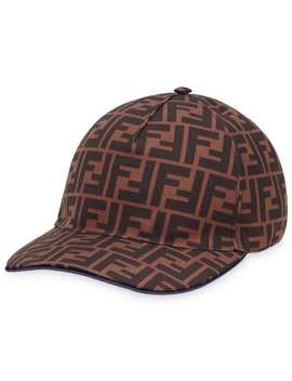 Ff Print Baseball Hat by Fendi