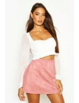 Bonded Suedette A Line Mini Skirt Bonded Suedette A Line Mini Skirt by Boohoo