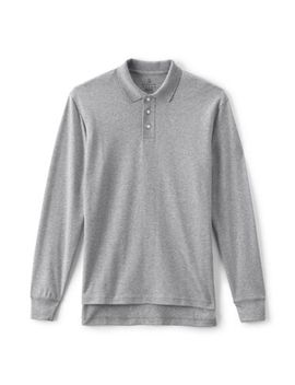 Men's Long Sleeve Interlock Polo Shirt by Lands' End