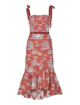 Puebla Nativo Printed Cotton Blend Midi Dress by Johanna Ortiz