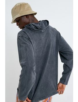 Urban Outfitters– Jersey Hoodie In Schwarz Mit Stickerei by Urban Outfitters Shoppen