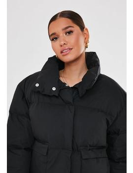 Black Ultimate Puffer Jacket by Missguided
