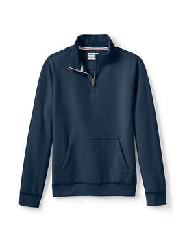 Men's Serious Sweats Quarter Zip Sweatshirt by Lands' End