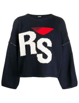 Cropped Knitted Logo Jumper by Raf Simons