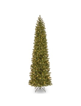 9 Ft. Downswept Douglas Pencil Slim Fir Tree With Clear Lights by National Tree Company