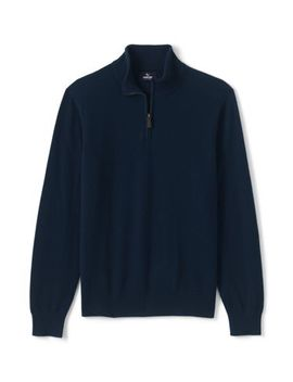 Men's Fine Gauge Cashmere Quarter Zip by Lands' End