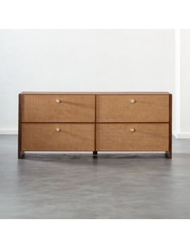 Grasscloth Low Dresser by Crate&Barrel