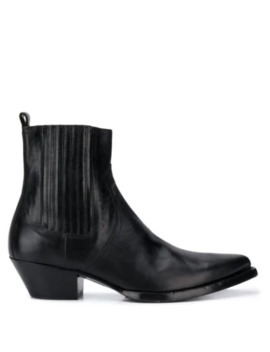 Lukas Leather Boots by Saint Laurent