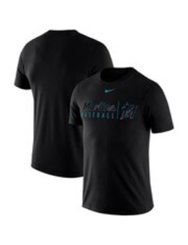 Men's Miami Marlins Nike Black 2019 Practice T Shirt by Ml Bshop