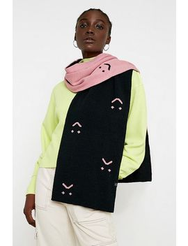 Lazy Oaf Happy Sad Knitted Scarf by Lazy Oaf