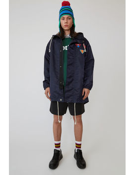 Water Repellent Parka Navy Blue by Acne Studios